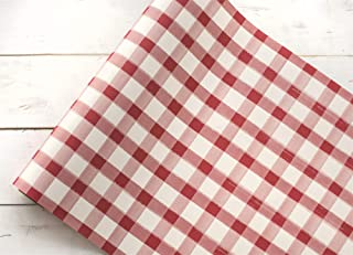 """Hester and Cook 20"""" Red Painted Check Paper Runner"""