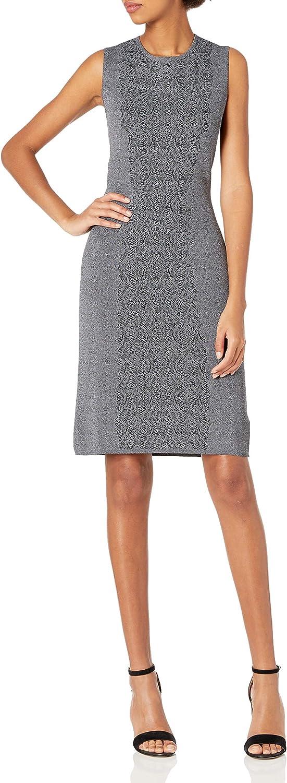 Nanette Nanette Lepore Women's Sleevelss Lace Jacquard Sweater Dress