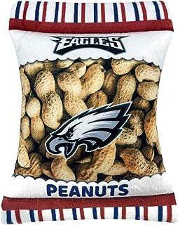 NFL Philadelphia Eagles Crinkle FINE Plush Dog & CAT Squeak Toy - Cutest Stadium Peanuts Snack Plush Toy for Dogs & Cats w...