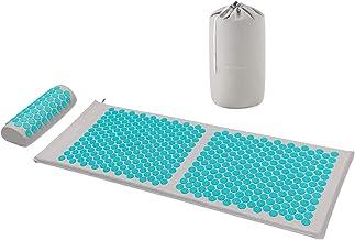 Navaris acupressuur massageset - Met kussenset en acupressuurmat - Voor rug- en nekpijnverlichting, spierontspanning en ma...