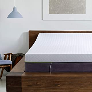 Blissful Nights Adjustable Bed Frame and 12 Inch King Copper Infused Cool Memory Foam Mattress Medium