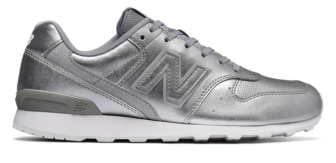 深さ水差し皮肉な(ニューバランス) New Balance 靴?シューズ レディースライフスタイル 696 Metallic Silver メタリック シルバー US 7.5 (24.5cm)