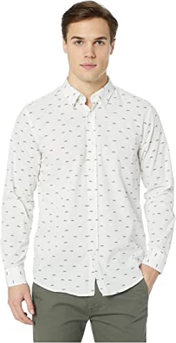 Long Sleeve Trumpet Print Shirt