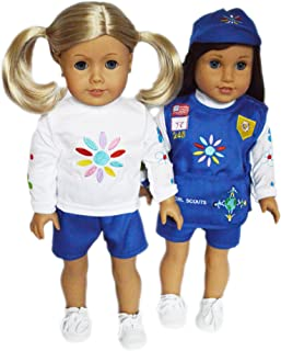 DollsHobbiesNmore Daisy Girl Scouts Outfit Compatible with 18 Inch American Girl Dolls.