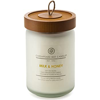 Chesapeake Bay Candle PT92191 Candle Scented Candle, Milk & Honey, Large Jar