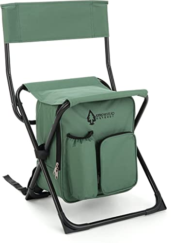 lowest Multifunction lowest 3 in 1 Camping Fishing Backpack Folding Chair Seat with Cooler Bag Compact Folding Hiking Camping Stool Portable Insulated Cooler Picnic Bag Beach discount Chair Backpack Stool Heavy Duty 330lbs sale