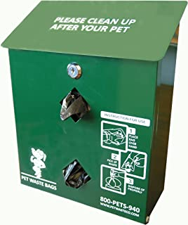 Pet Waste Bag Dispenser, Aluminum, with 400 Dog Waste Bags ( PWC-013 )