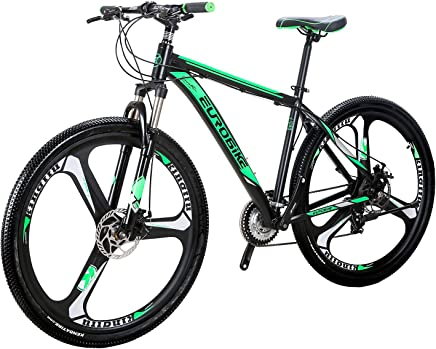 EUROBIKE EURX9 Mountain Bike 21 Speed 3-Spoke 29 Inches Wheels Dual Disc Brake Aluminum