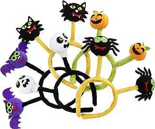 Athoinsu 5 PCS of Halloween Headbands Spider Pumpkin Skeleton Bat Hair Hoops Dress up Accessories for Costume Party Gifts for Toddler Kids