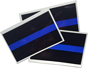 Empire Tactical USA 3 pack - La policía delgada línea azul reflectante de pegatinas de vinilo 3M