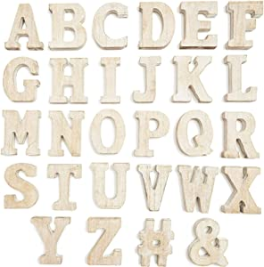 A-Z Standing Wooden Letters for Crafts (3.15 in, 54 Pieces)