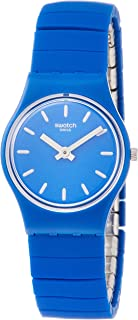 Swatch Women's Blue Dial Stainless Steel Band Watch - LN155B