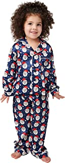 Alexander Del Rossa Matching Family Satin Pajama Set, Christmas Pjs for Men, Women, and Children