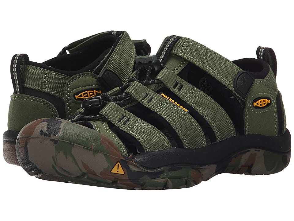 Keen Kids Newport H2 (Little Kid/Big Kid) (Crushed Bronze Green) Kids Shoes