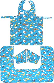 BIB-ON Plus, A New, Full-Coverage Bib and Apron Combination with Detachable Sleeves and Apron Extension for Infant, Baby, Toddler. Ages 0 to 4. One Size Fits All! (Planes (BIB-ON +))