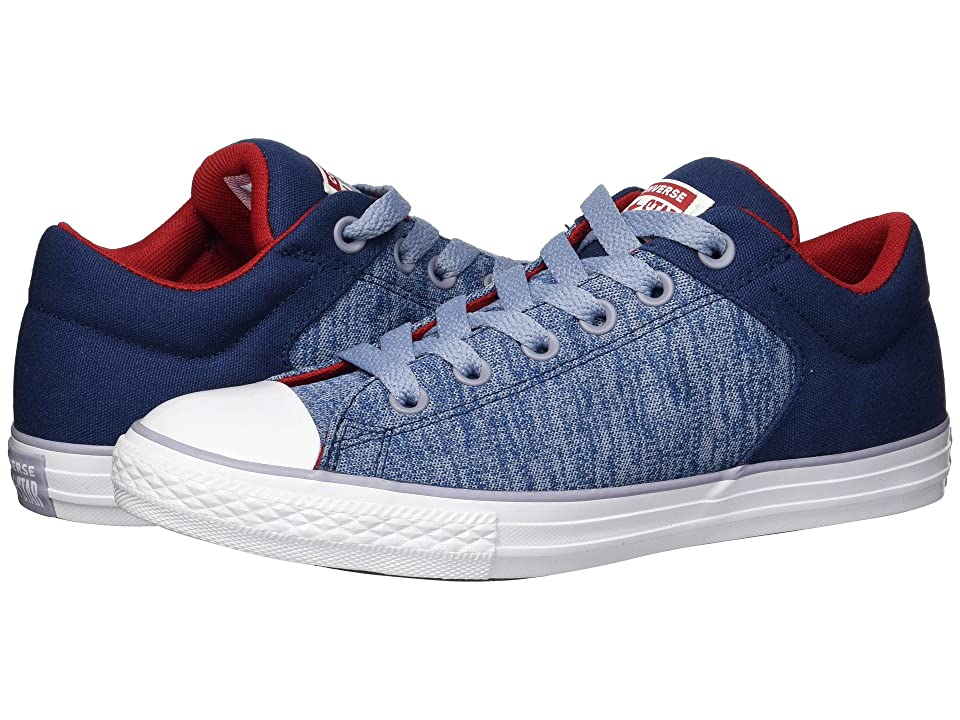 Converse Kids Chuck Taylor(r) All Star(r) High Street Heather Textile Fundamentals Slip (Little Kid/Big Kid) (Navy/Glacier Grey/White) Boys Shoes