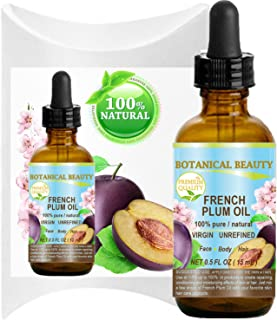 PLUM OIL French. 100% Pure / Natural / Virgin / Unrefined / Undiluted Cold Pressed Carrier Oil. For Face, Hair and Body. (0.5 Fl.oz - 15 ml.)