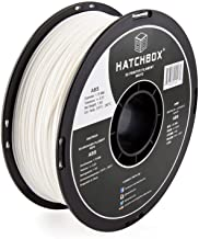 HATCHBOX ABS 3D Printer Filament, Dimensional Accuracy +/- 0.03 mm, 1 kg Spool, 1.75 mm, White, Model Number: 3D ABS-1KG1....