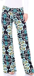 Popana Womens Casual Print Palazzo Pants Plus Size Made in USA