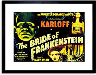 The Art Stop Movie Film Sequel Bride Frankenstein Karloff Whale Horror Framed Print F97X4132