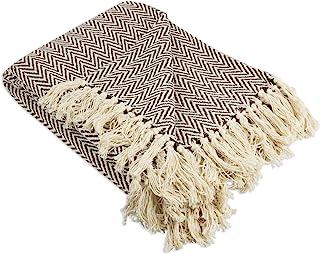 DII 100% Cotton Chevron Herringbone Throw for Indoor/Outdoor