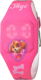 Nickelodeon Girls' Analog-Quartz Watch with Rubber Strap, Pink, 16 (Model: PAW4017)