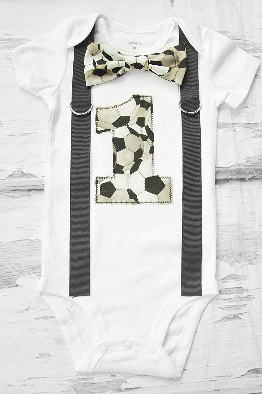 Luxury goods Boy first birthday Outfit Football Seasonal Wrap Introduction boy ca Soccer