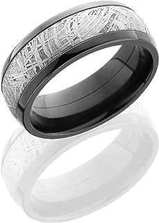 Lashbrook Z8D15/METEORITE Meteorite Inlay Wedding Band - Zirconium