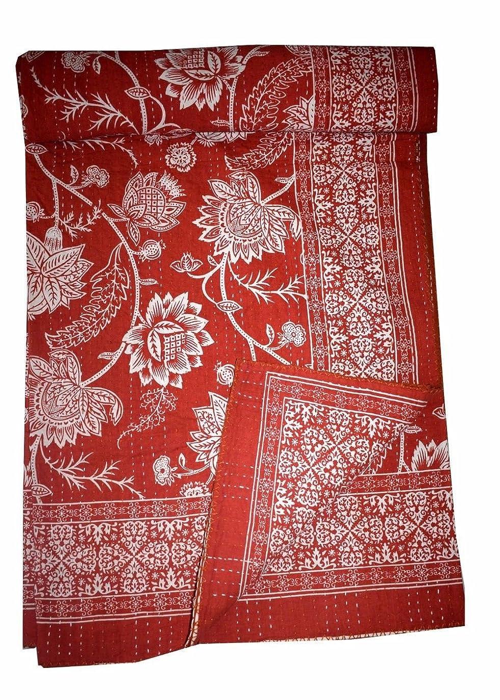 バッチ小説範囲gypsya Studioヴィンテージキルト/ Throw / Gudri / Ralliハンドメイド-- kantha-quilt-indian-cotton-patchwork