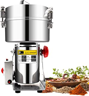 CGOLDENWALL 2000g Commercial electric stainless steel grain grinder mill Spice Herb Cereal Mill Grinder Flour Mill pulverizer