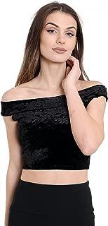 womens velvet tops uk