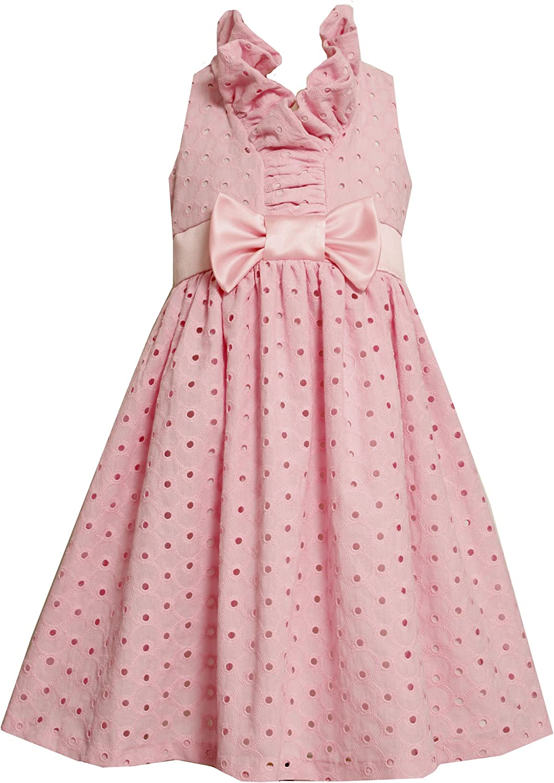 Bonnie Jean Little Girls' Eyelet Dress With Ruffle Collar