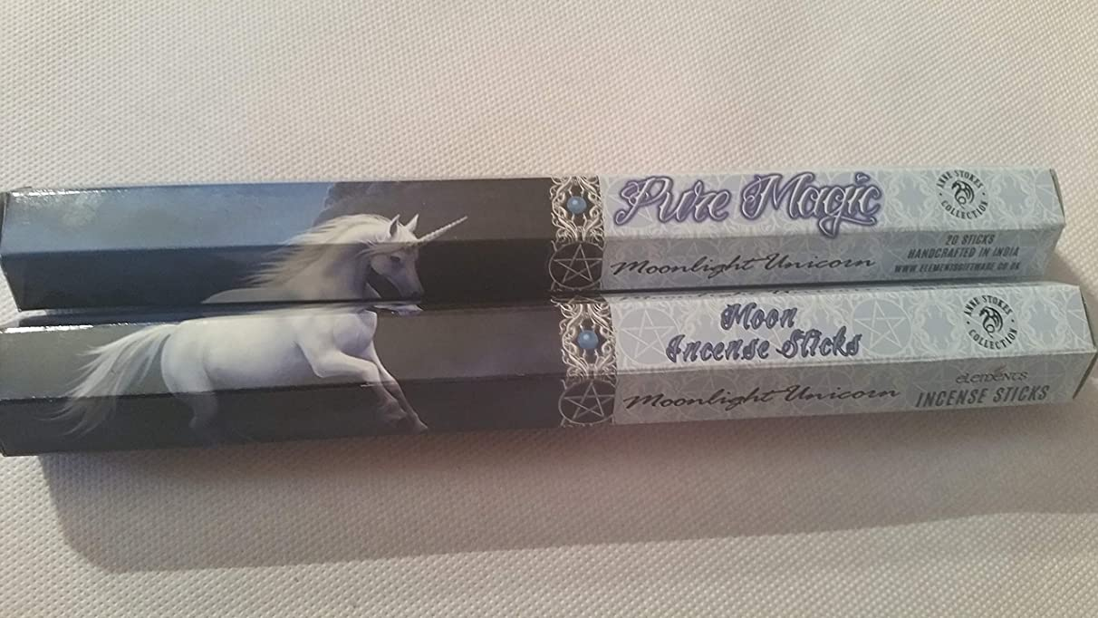 テラス早いレバーPack Of 6 Moonlight Unicorn Incense Sticks By Anne Stokes