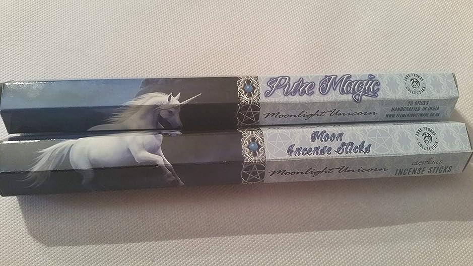バクテリア体ビバPack Of 6 Moonlight Unicorn Incense Sticks By Anne Stokes