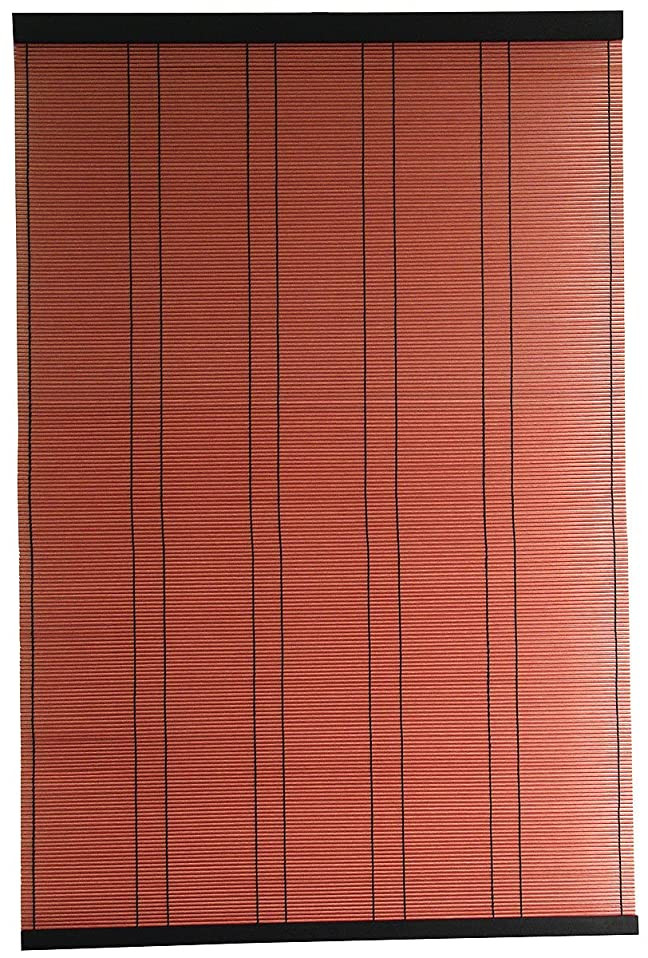 いろいろ曲線主婦三宅製簾 すだれ PP 和の彩り 60×90 レンガ 62222