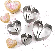 RSVP Endurance 4 Piece Heart Shaped Biscuit Cutter Set