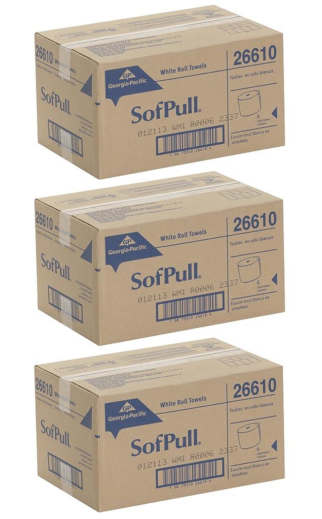 松明ポジティブ特にgeorgia-pacific gpc26610?Professional 26610?Hardwoundロール紙タオル、Nonperforated、9?x 400?ft、ホワイト( Case of 6?Rolls ) 3 CASES
