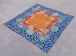 DharmaObjects Tibetan Buddhist Silk Brocade Table Runner/Shrine Cover/Altar Cloth/Table Cover (18 X 18 Inches)