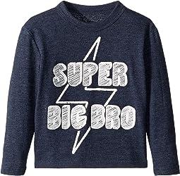 Extra Soft Super Big Bro Long Sleeve Tee (Toddler/Little Kids)