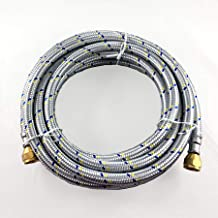 16' FLEXIBLE STAINLESS STEEL BRAIDED HOSE FOR NATURAL /PROPANE GAS 3/8