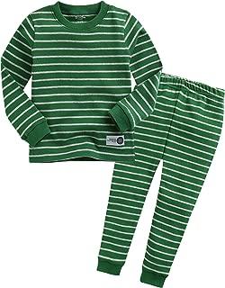 12M-7T Kids Little Boys Girls Unisex Toddler Colorful Stripe/Simple Sleepwear Pajama 2pcs Set
