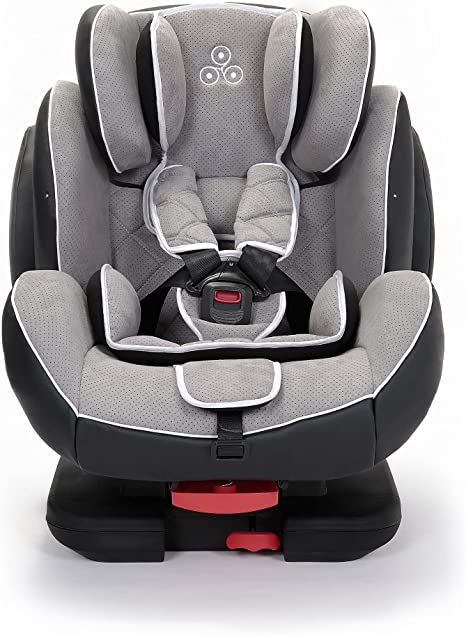 Ickle Bubba Solar ISOFIX Car Seat | Group 1-2-3 from 9kg to 36kg | Magnetic Buckle Closure, Top Tether | Reclining Car Seat | Light Grey: image
