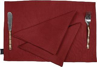 S4Sassy Lot de 12 sets de table en coton souple lavable et réversible avec serviettes de table 30,5 x 45,7 cm