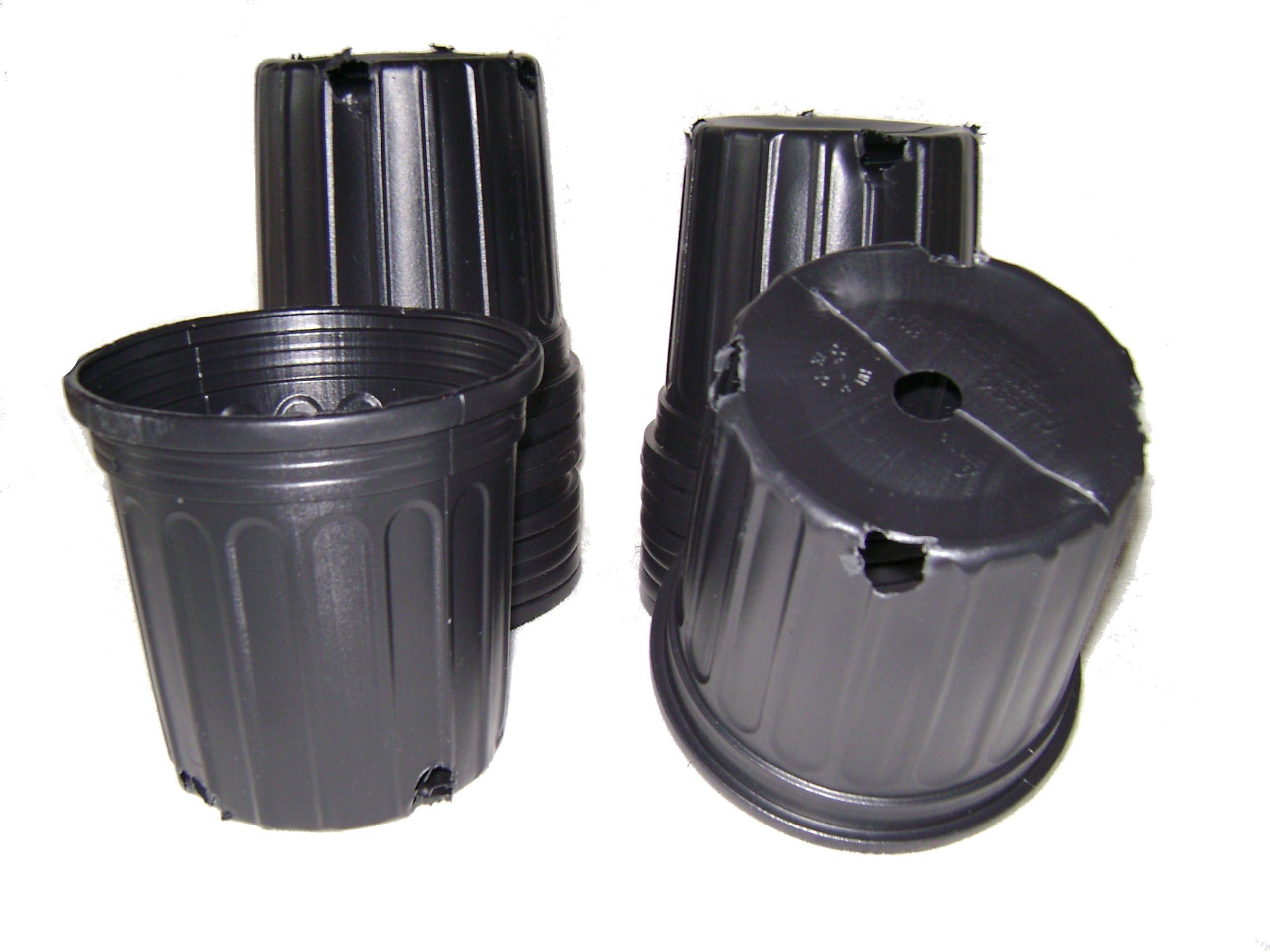 New  Black Trade Gallon Root Garden Container Premium Nursery Pots USA