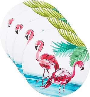 Benson Mills Elegant Flamingo Cork Placemat (Set of 4), Flamingo-14RD