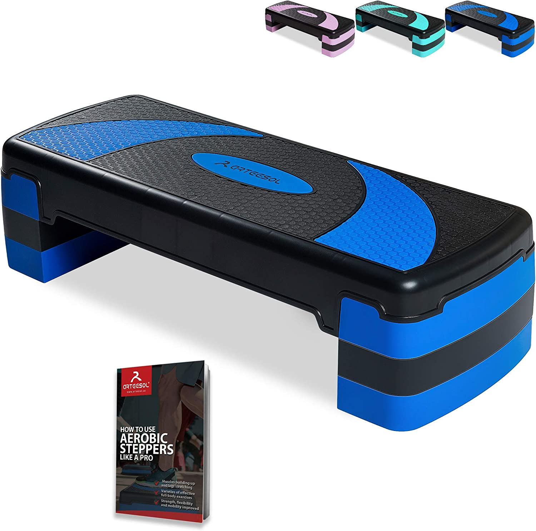Surface Antid/érapant Capacit/é de Poids 250KG Sport Step Fitness pour Maison//Gym Exercice//Bureau Yoga R/églable en Hauteur 3 Niveaux 10//15//20cm Fitness Step Bench arteesol Stepper da/érobic