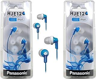 Panasonic RP-HJE120 ErgoFit In-Ear Headphones Stereo Earbuds (2-Pack, Blue)