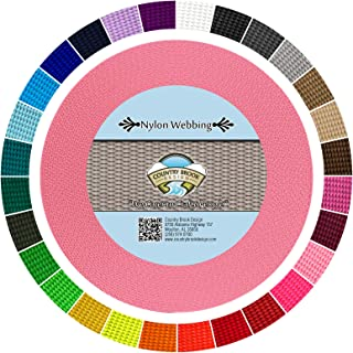 Country Brook Design - Durable 1 Inch Heavy Nylon Webbing - 29 Vibrant Colors