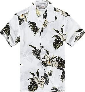 Boy Hawaiian Shirt or Cabana Set in Palm Green in White
