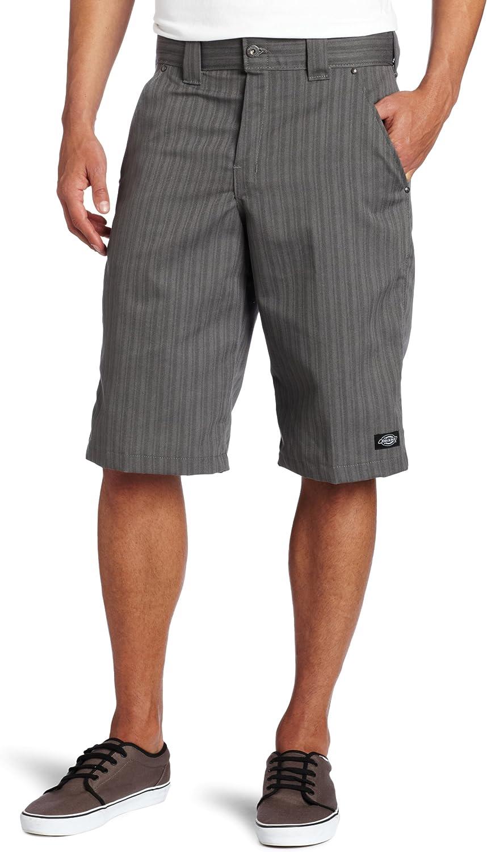 36 Slate Dickies Mens 11 Inch Flex Shadow Plaid Short
